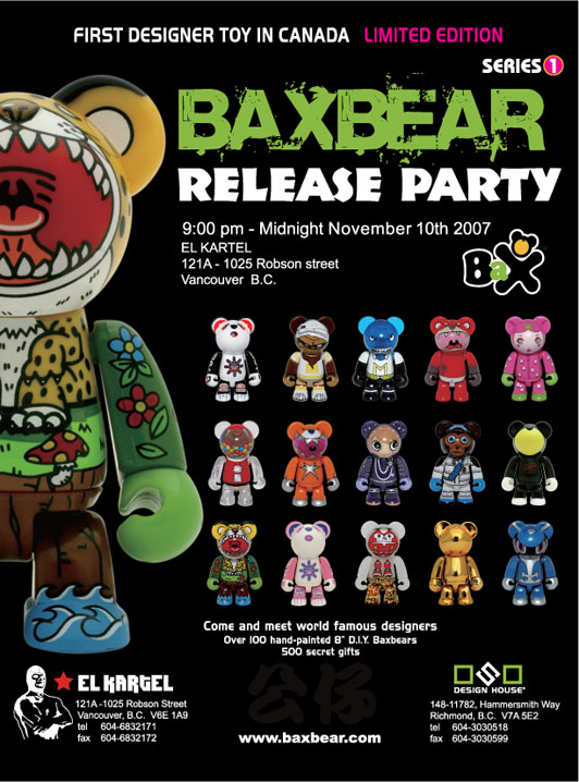 Bax Bear release flyer